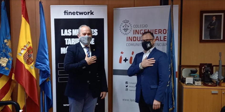 El COIICV-Valencia firma un acuerdo con Finetwork por el que los colegiados dispondrán de un descuento del 5%