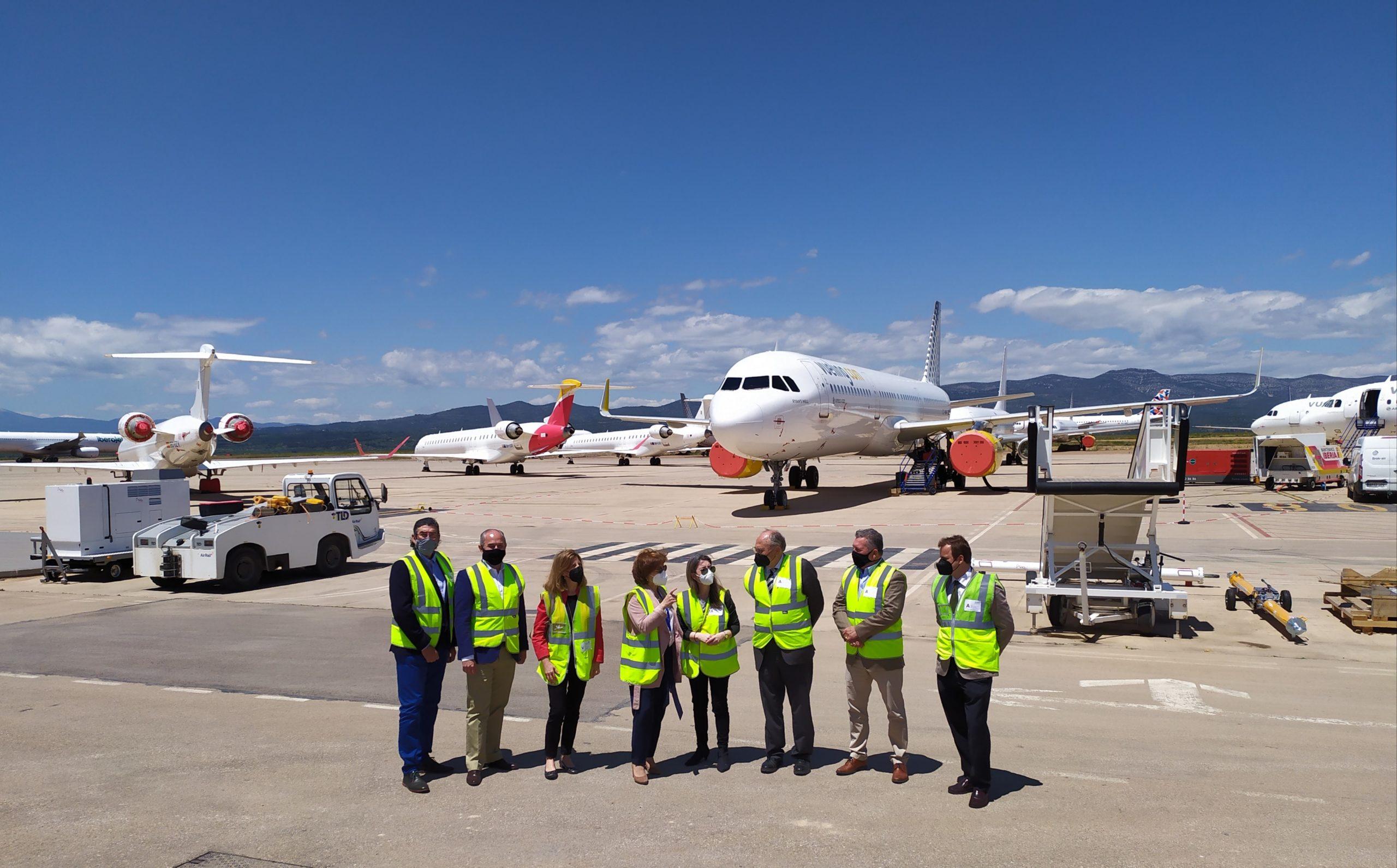 El COIICV visita el Aeropuerto de Castellón para conocer su estrategia de diversificación